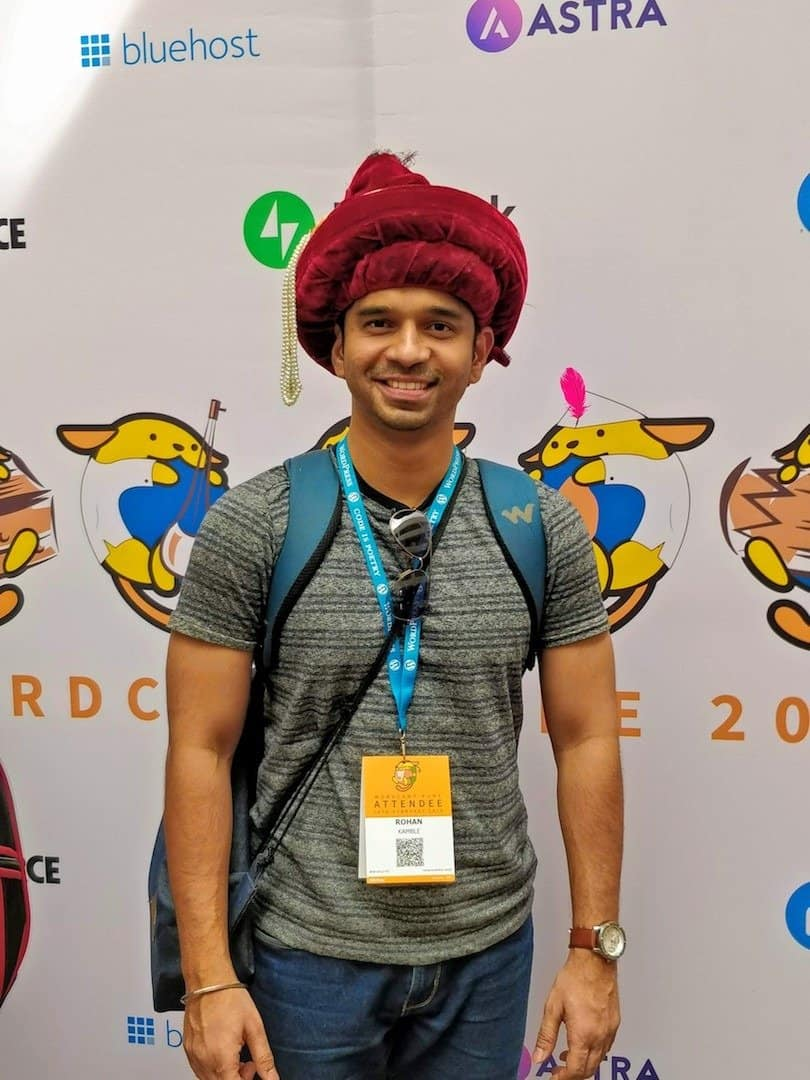 image of rohan kamble at wordcamp 2019