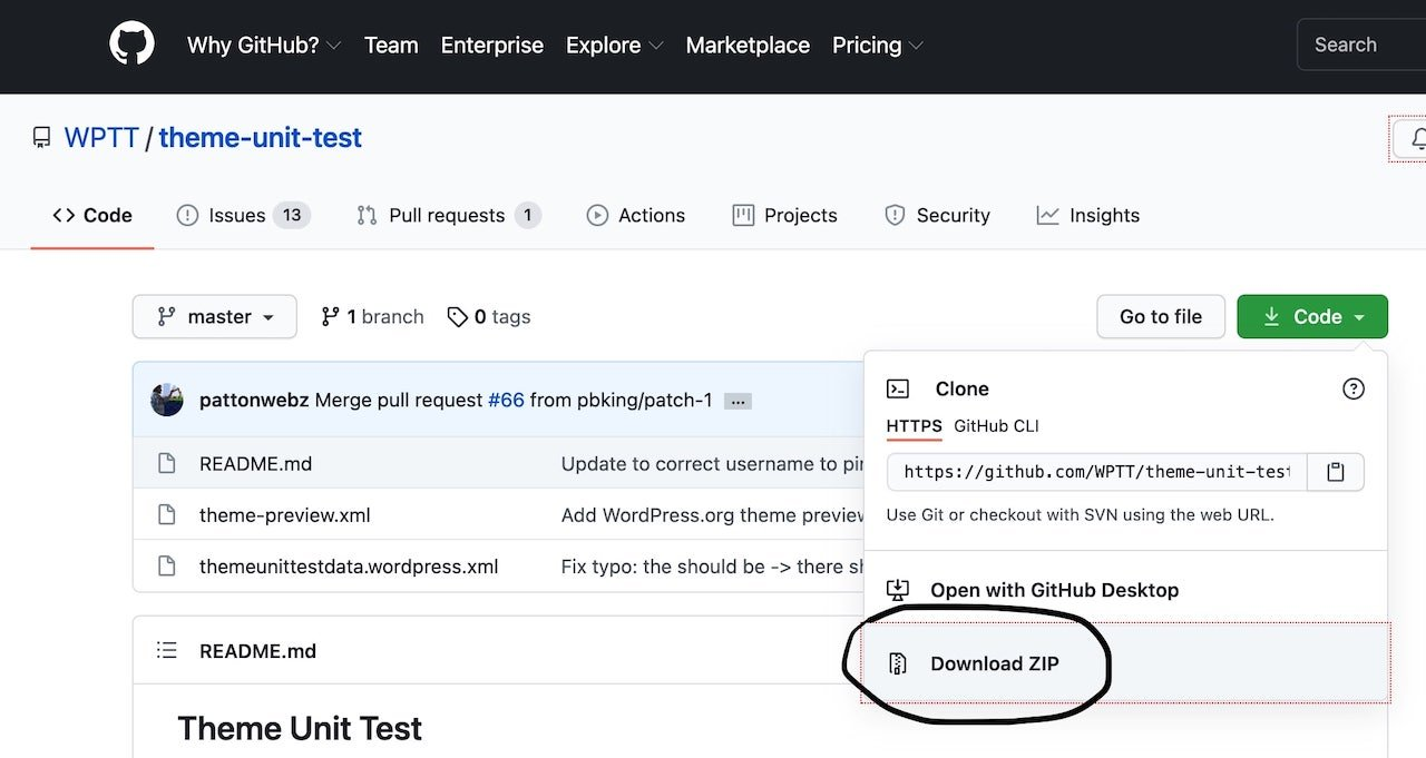 How to import dummy content in WordPress 5.7