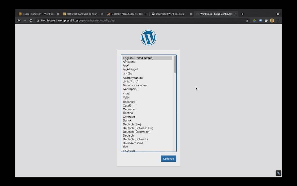 How to install WordPress locally on a mac without MAMP